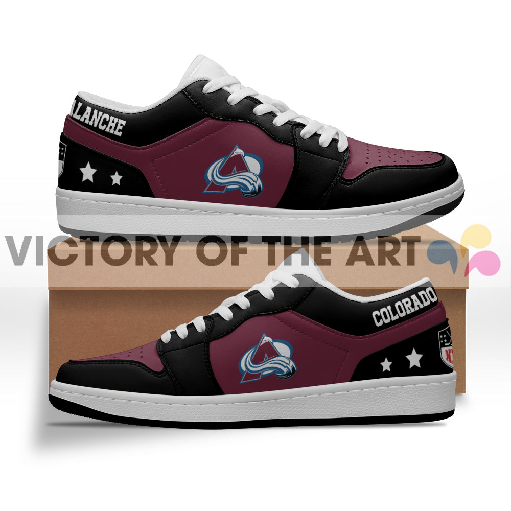 Gorgeous Simple Logo Colorado Avalanche Low Jordan Shoes