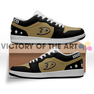 Gorgeous Simple Logo Anaheim Ducks Low Jordan Shoes