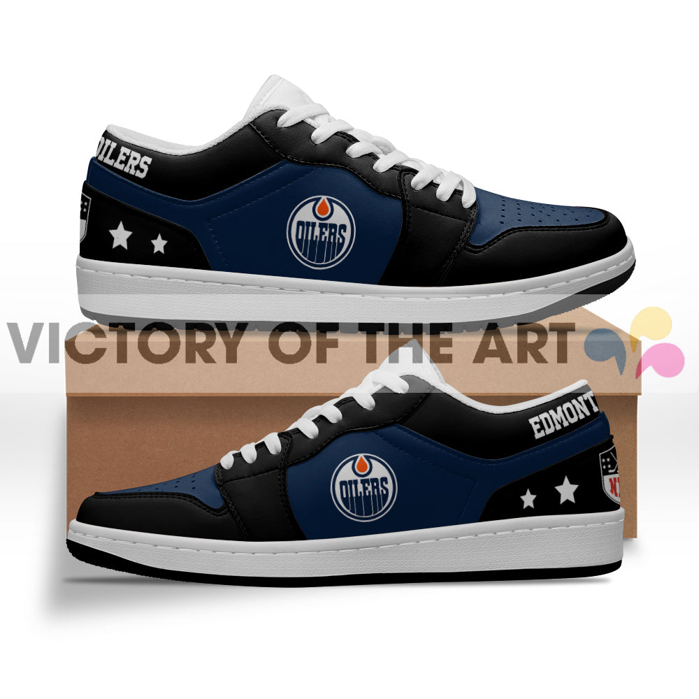 Gorgeous Simple Logo Edmonton Oilers Low Jordan Shoes