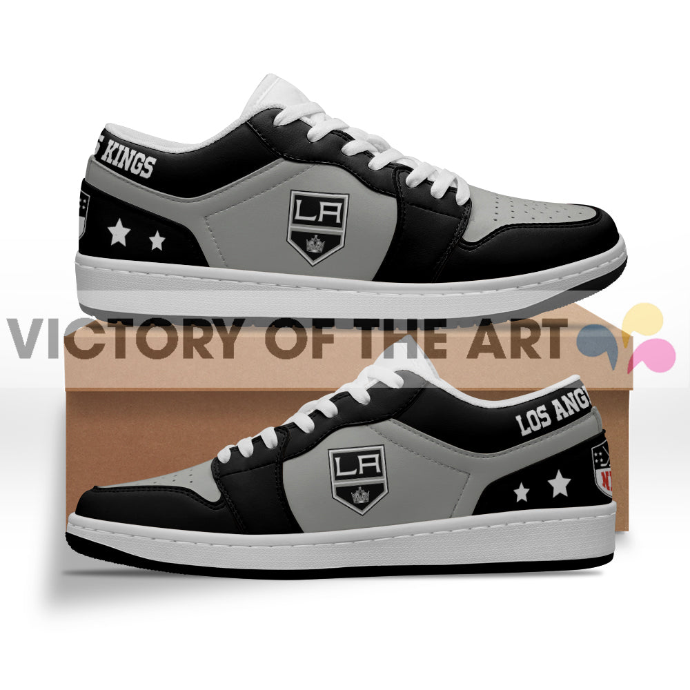 Gorgeous Simple Logo Los Angeles Kings Low Jordan Shoes