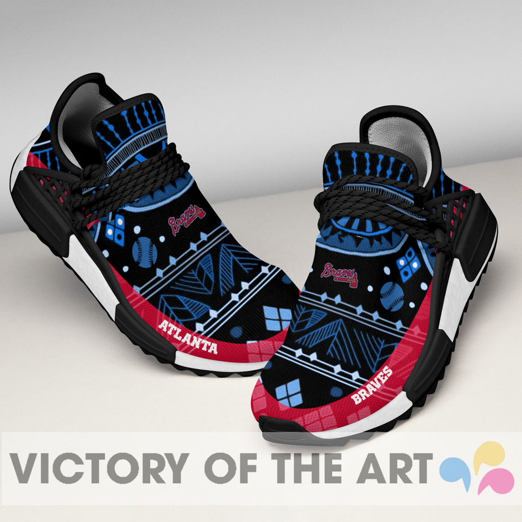 Wonderful Pattern Human Race Atlanta Braves Shoes For Fans
