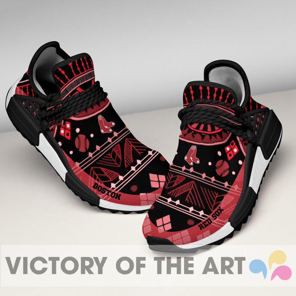 Wonderful Pattern Human Race Boston Red Sox Shoes For Fans