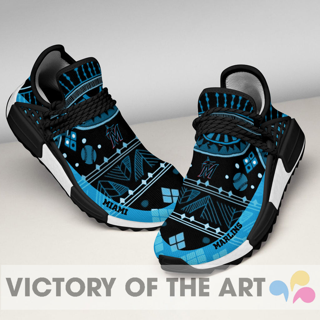 Wonderful Pattern Human Race Miami Marlins Shoes For Fans