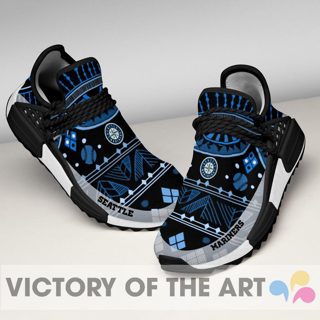 Wonderful Pattern Human Race Seattle Mariners Shoes For Fans