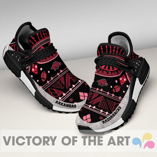 Wonderful Pattern Human Race Arkansas Razorbacks Shoes For Fans