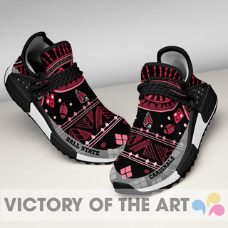 Wonderful Pattern Human Race Ball State Cardinals Shoes For Fans