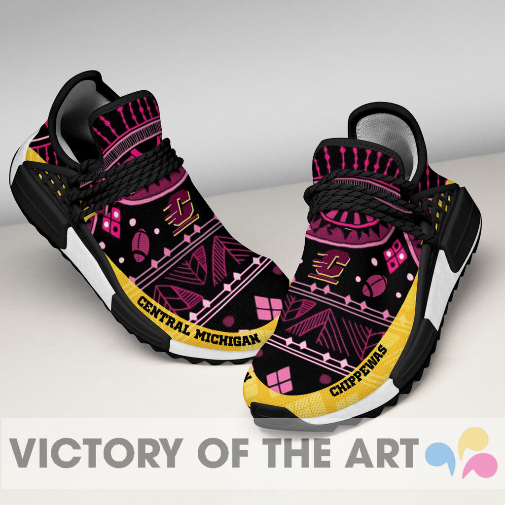 Wonderful Pattern Human Race Central Michigan Chippewas Shoes For Fans