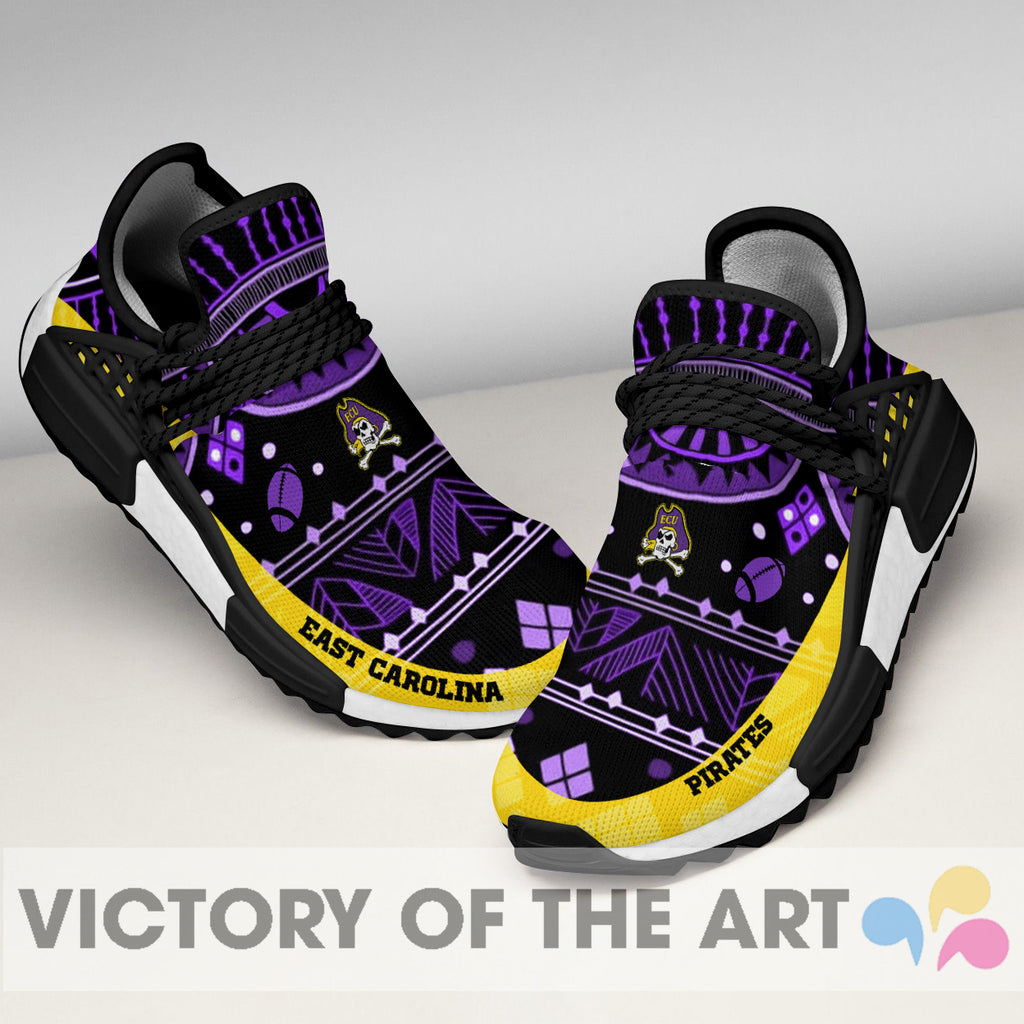 Wonderful Pattern Human Race East Carolina Pirates Shoes For Fans