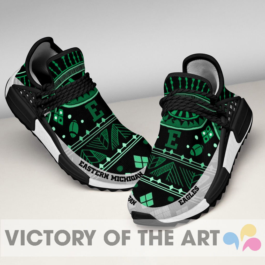 Wonderful Pattern Human Race Eastern Michigan Eagles Shoes For Fans