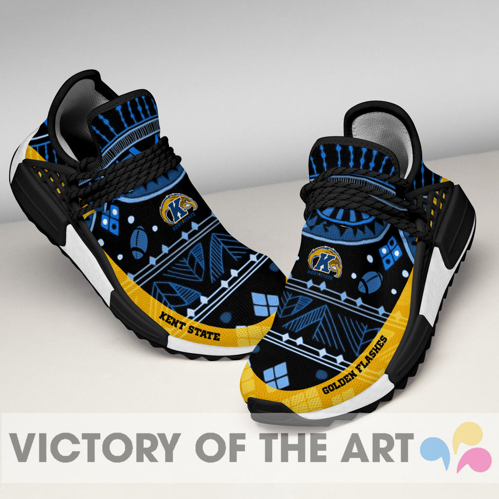 Wonderful Pattern Human Race Kent State Golden Flashes Shoes For Fans
