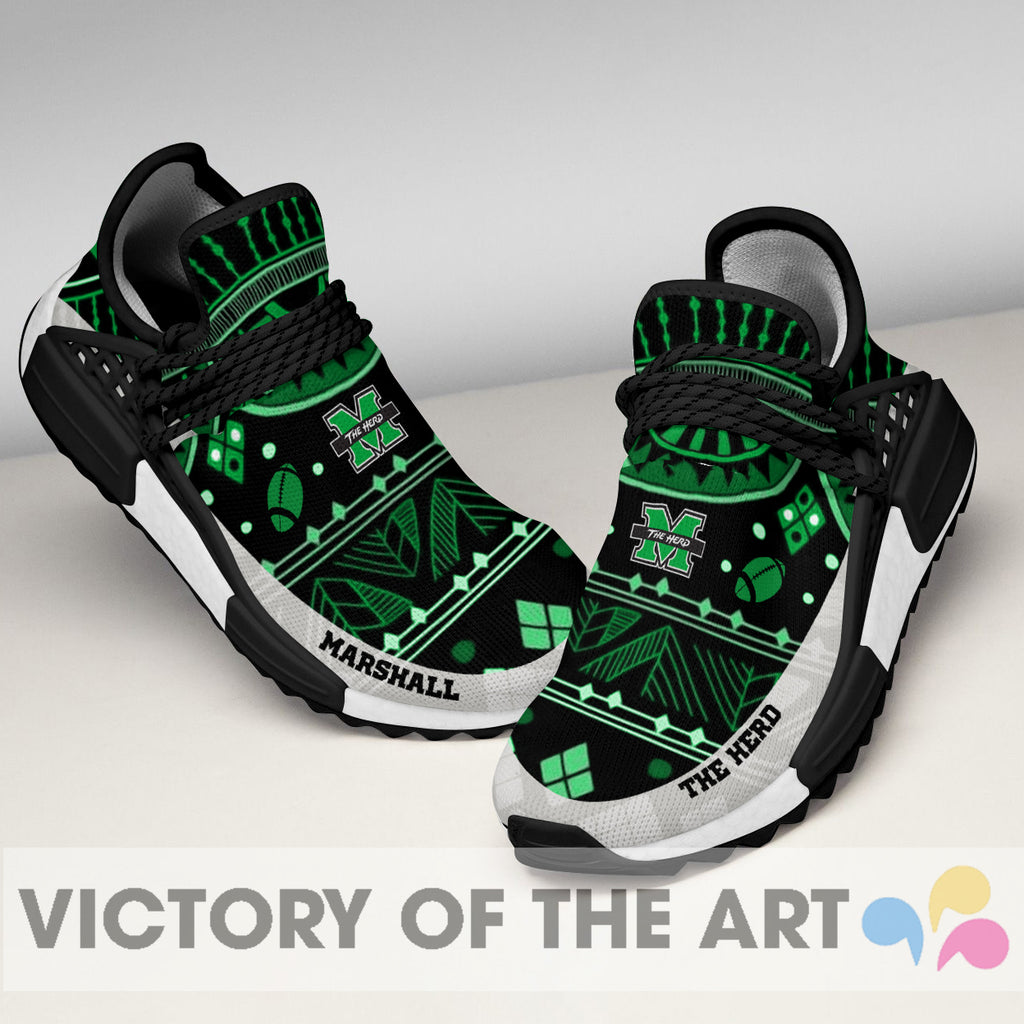 Wonderful Pattern Human Race Marshall Thundering Herd Shoes For Fans