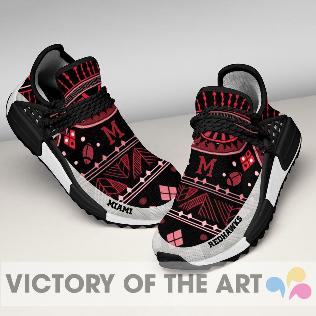 Wonderful Pattern Human Race Miami RedHawks Shoes For Fans
