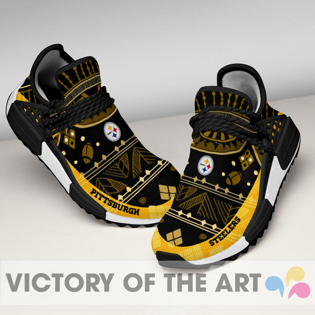 Wonderful Pattern Human Race Pittsburgh Steelers Shoes For Fans