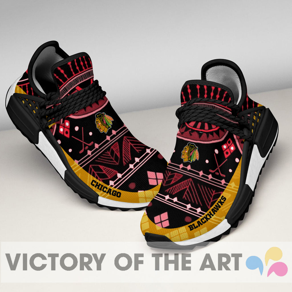 Wonderful Pattern Human Race Chicago Blackhawks Shoes For Fans