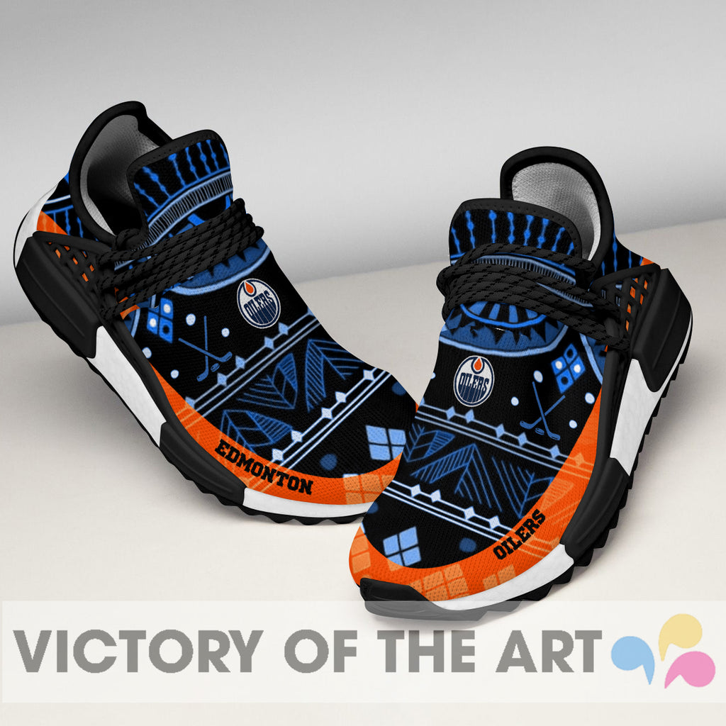 Wonderful Pattern Human Race Edmonton Oilers Shoes For Fans