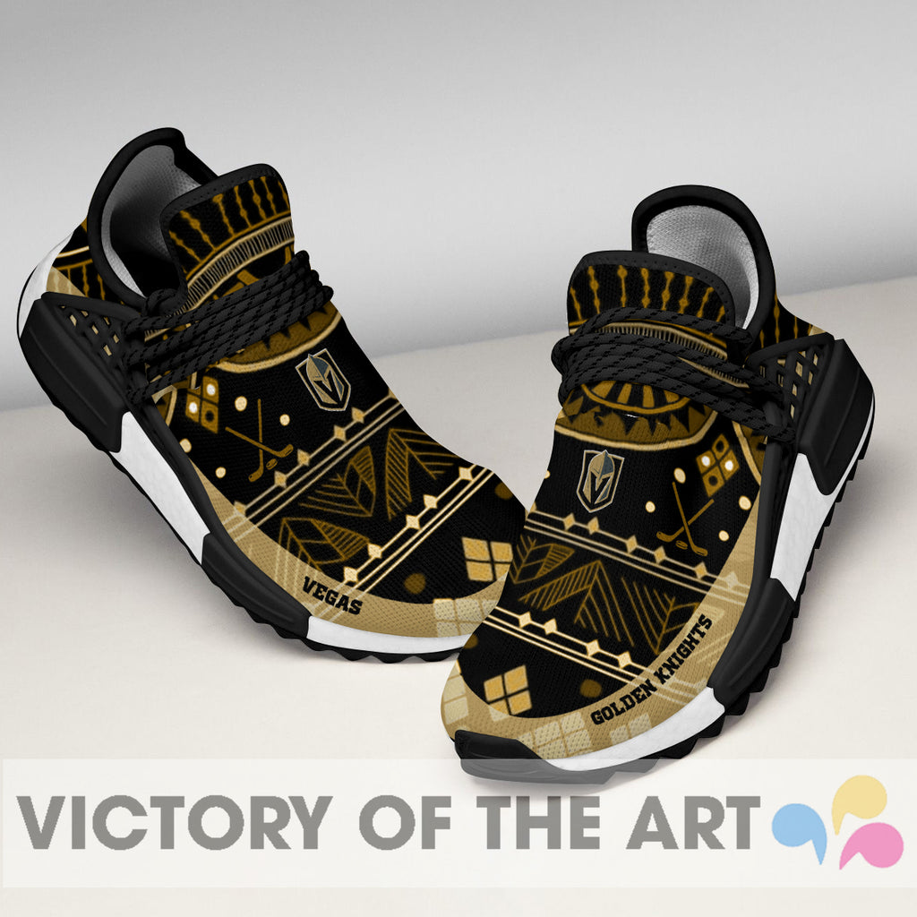 Wonderful Pattern Human Race Vegas Golden Knights Shoes For Fans