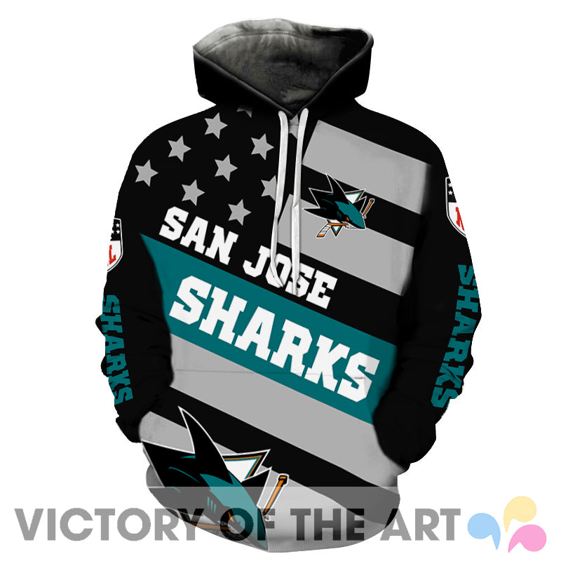 American Stars Proud Of San Jose Sharks Hoodie