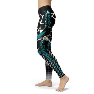 Awesome Light Attractive San Jose Sharks Leggings
