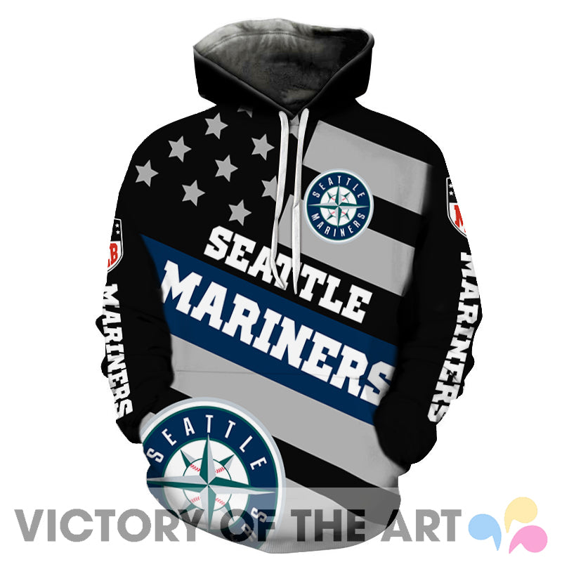 American Stars Proud Of Seattle Mariners Hoodie
