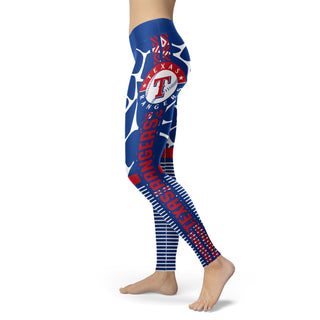 Awesome Light Attractive Texas Rangers Leggings