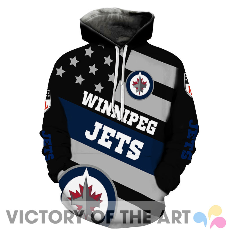 American Stars Proud Of Winnipeg Jets Hoodie