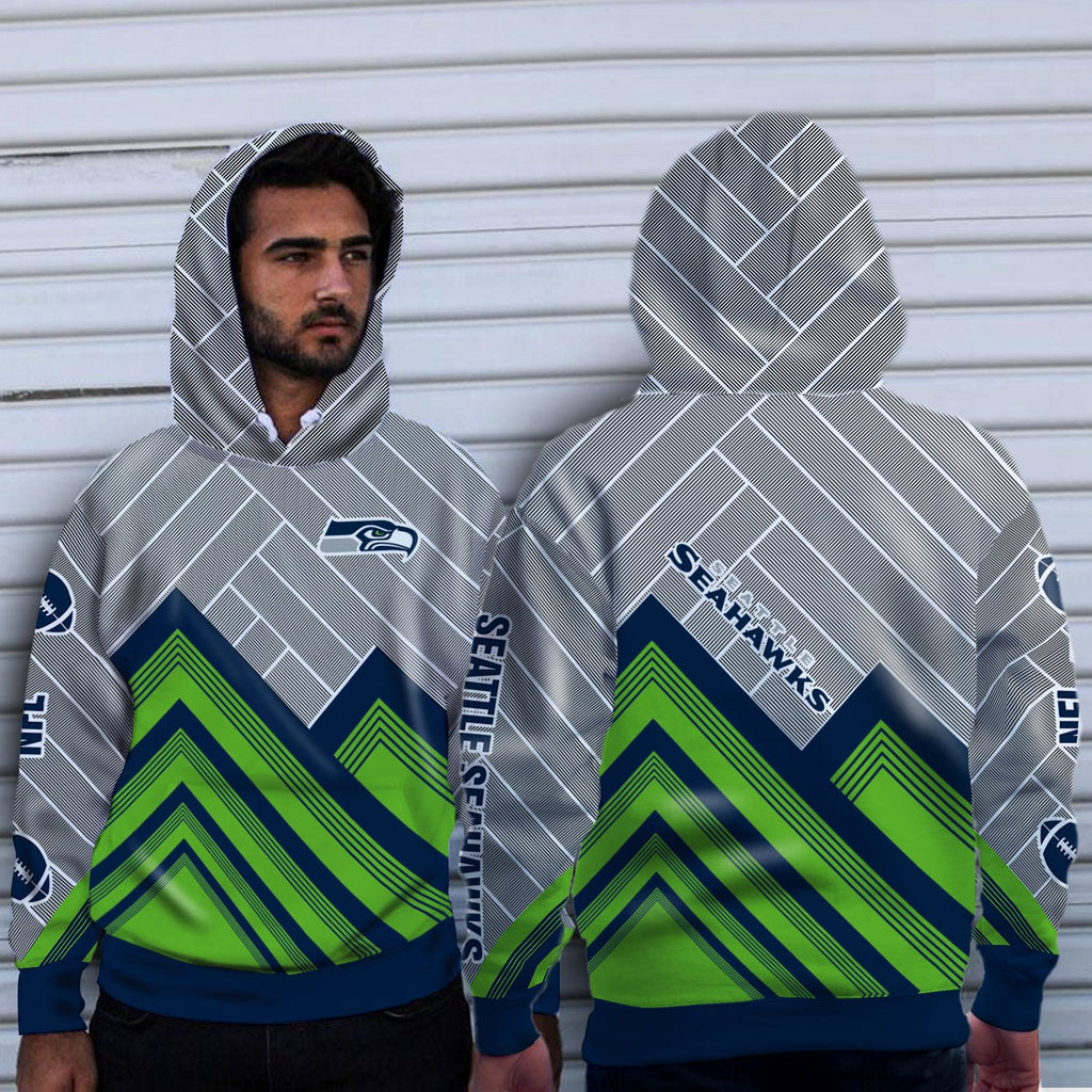 Simple Cross Line Seattle Seahawks Hoodie