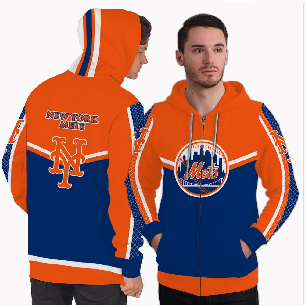 Strong Gorgeous Fitting New York Mets Zip Hoodie
