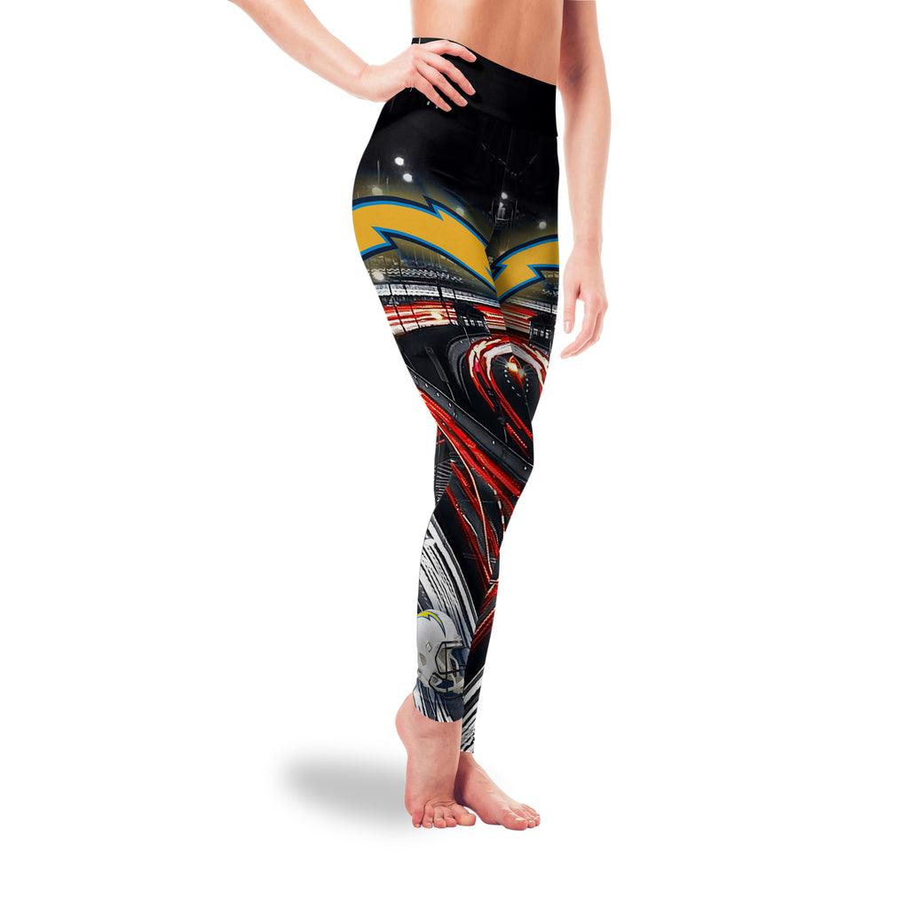 Great Urban Night Scene Los Angeles Chargers Leggings