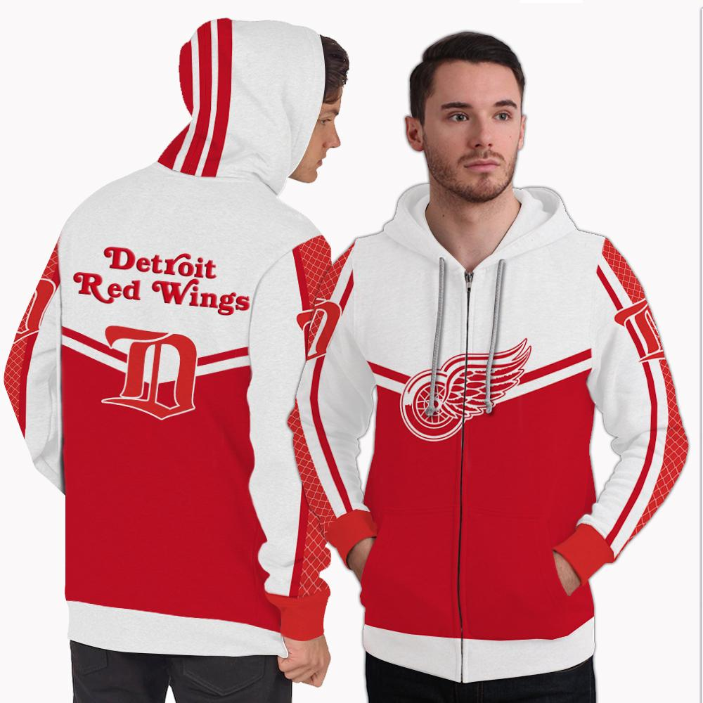 Strong Gorgeous Fitting Detroit Red Wings Zip Hoodie