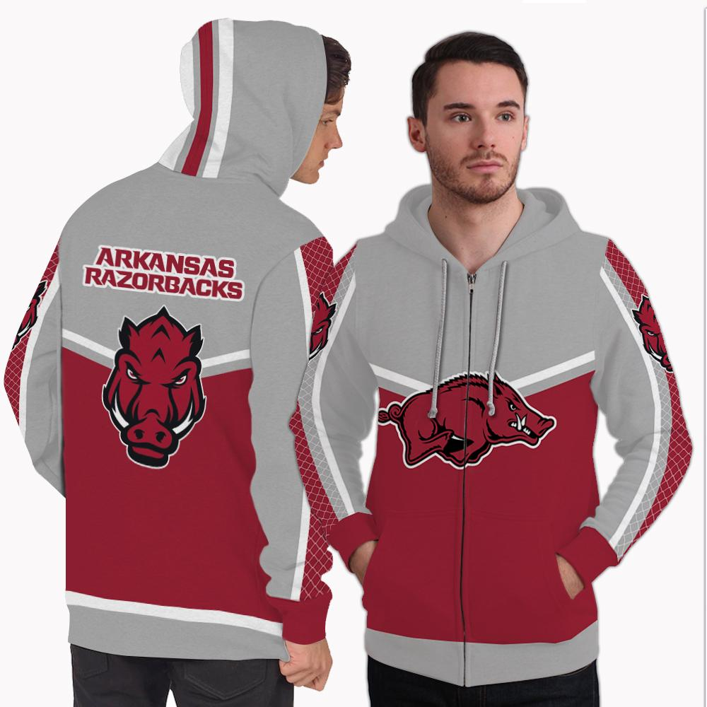 Strong Gorgeous Fitting Arkansas Razorbacks Zip Hoodie