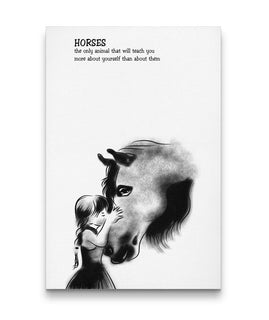 Horse -Teach You More About Yourself Canvas Prints