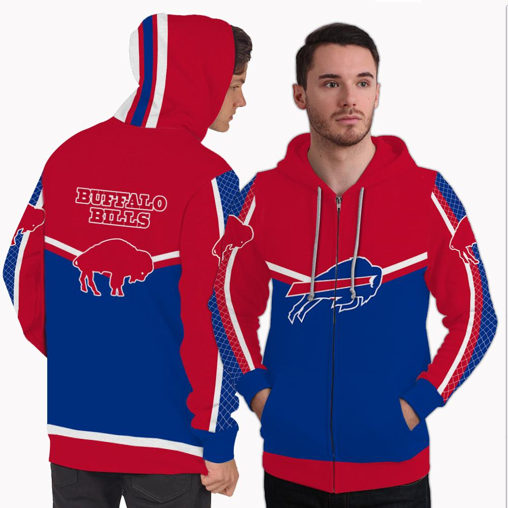 Strong Gorgeous Fitting Buffalo Bills Zip Hoodie