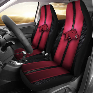 Incredible Line Pattern Arkansas Razorbacks Logo Car Seat Covers