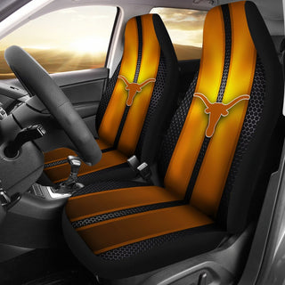 Incredible Line Pattern Texas Longhorns Logo Car Seat Covers