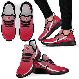 Style Top Logo Atlanta Falcons Mesh Knit Sneakers