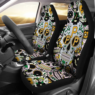 Colorful Skull Pittsburgh Pirates Car Seat Covers