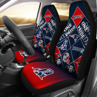 Pride Flag of Pro New England Patriots Car Seat Covers