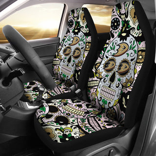 Colorful Skull Anaheim Ducks Car Seat Covers