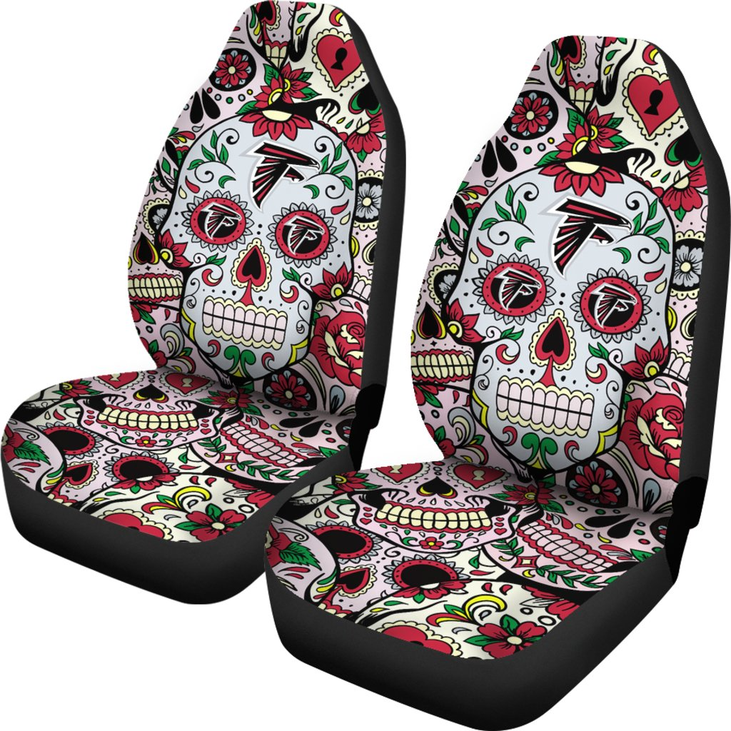 Colorful Skull Atlanta Falcons Car Seat Covers