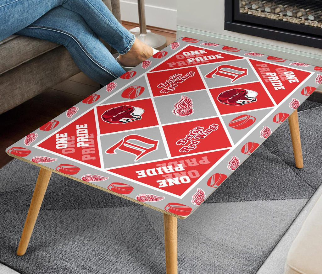 Pride Flag Detroit Red Wings Coffee Table