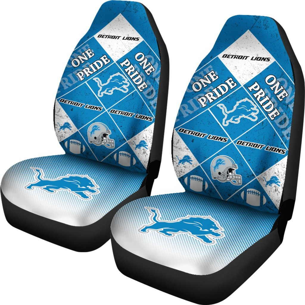 Pride Flag of Pro Detroit Lions Car Seat Covers