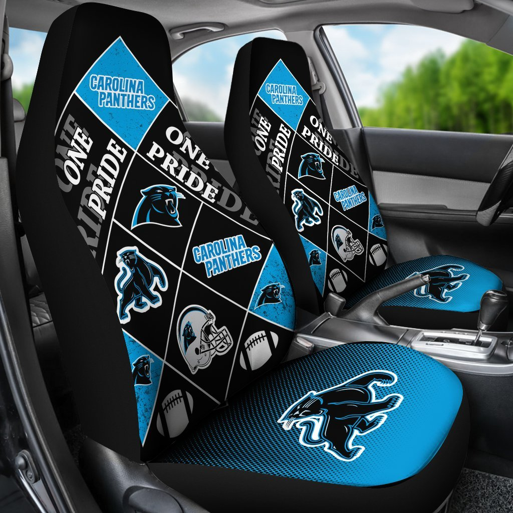 Pride Flag of Pro Carolina Panthers Car Seat Covers