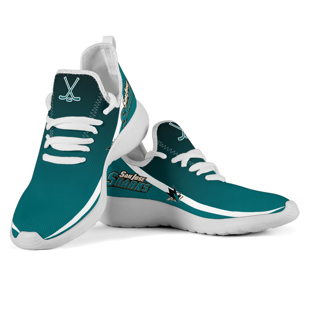 Style Top Logo San Jose Sharks Mesh Knit Sneakers