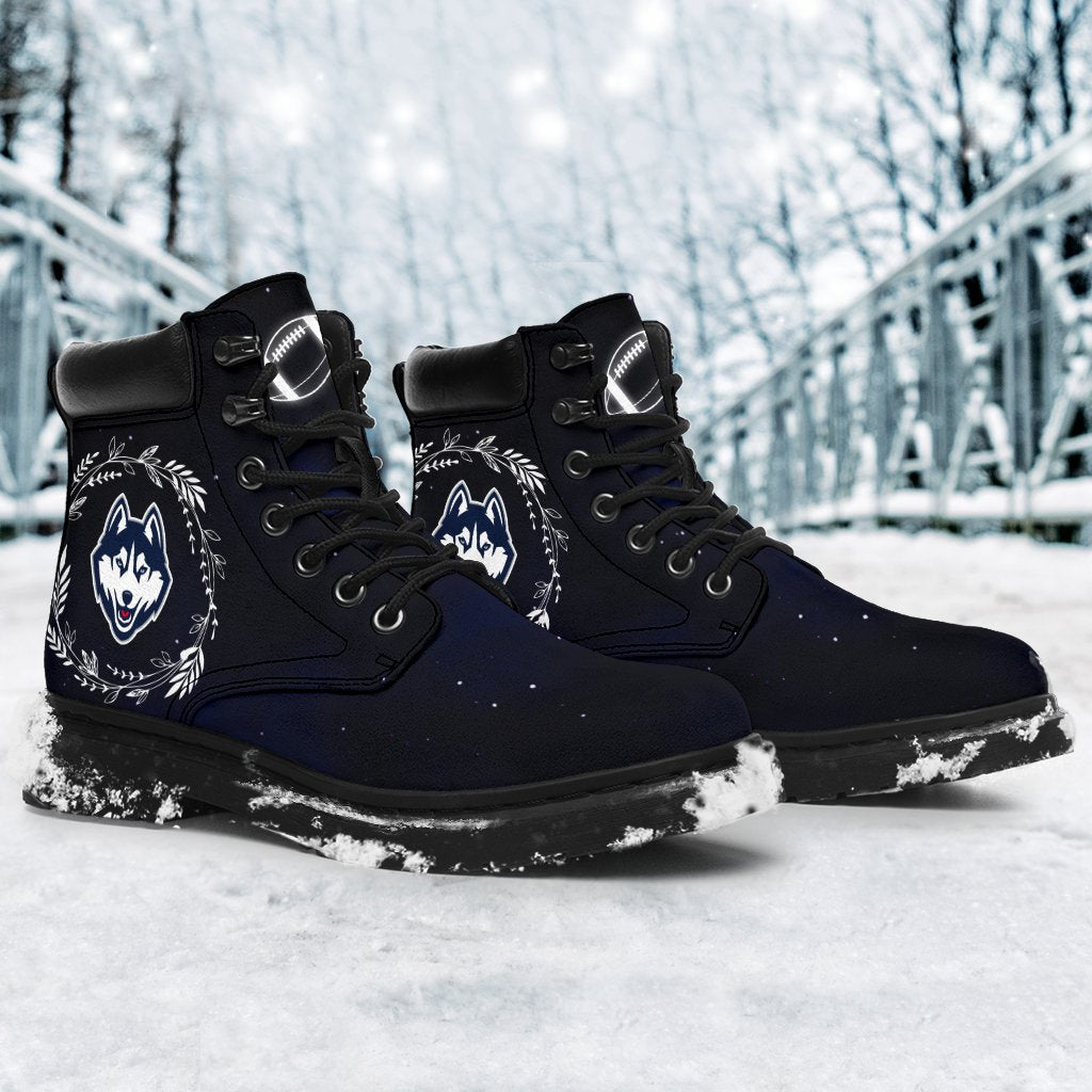 Colorful Connecticut Huskies Boots All Season