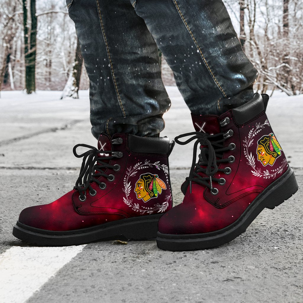 Colorful Chicago Blackhawks Boots All Season