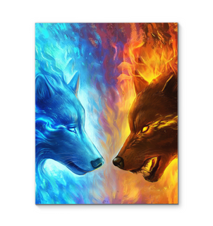 Fire And Ice Canvas Prints