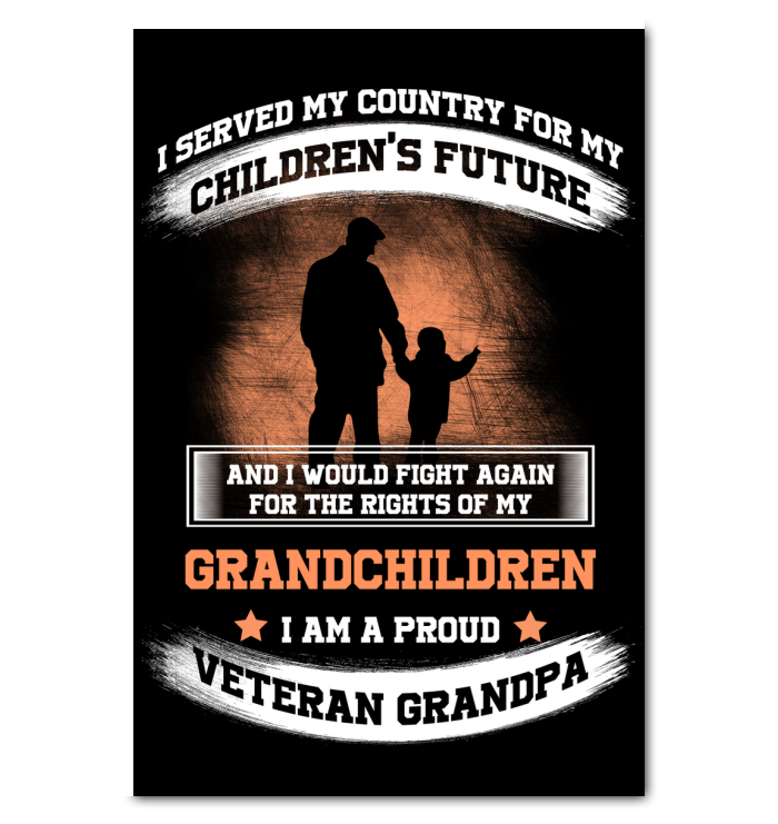 Interesting I Am A Proud Veteran Grandpa Canvas Prints