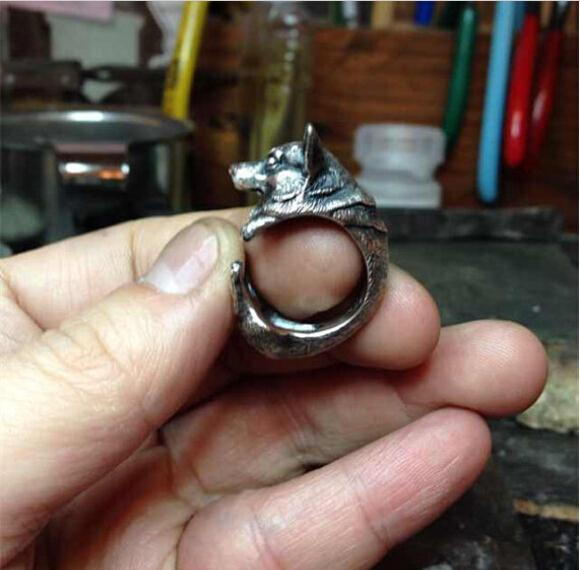 Vintage Welsh Corgi Dog Rings