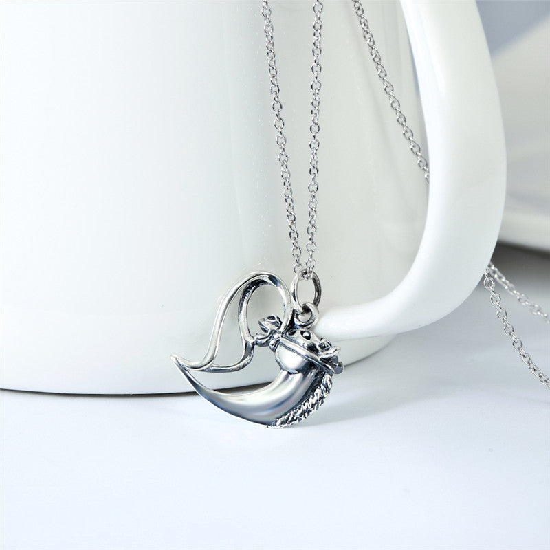 Antique Silver Heart Horse Head Necklaces