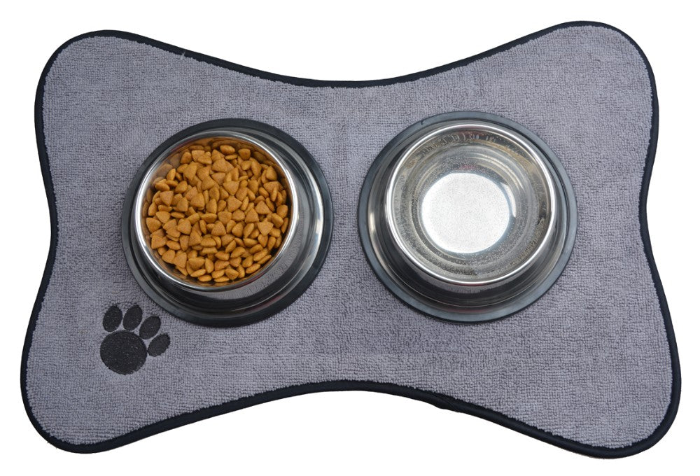 Dog Bowl Place With Paw Beds And Mats